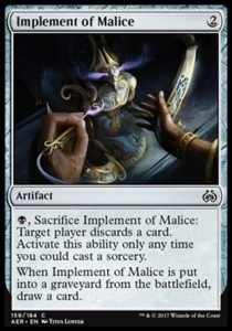 Implement of Malice (Aether Revolt)
