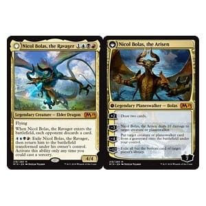 Nicol Bolas, the Ravager / Nicol Bolas, the Arisen (M19 Core Set)