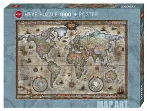 Map Art - Rajko Zigic - Retro World - Puzzle 1000