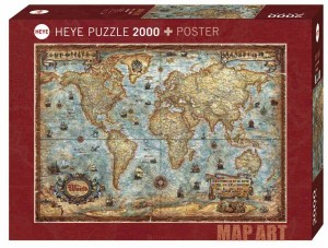 Map Art - Rajko Zigic - The World - Puzzle 2000