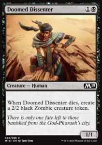 Doomed Dissenter (M19 Core Set)