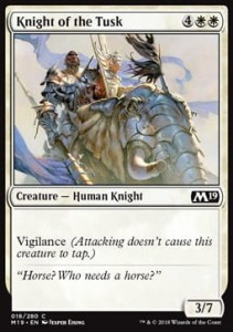 Knight of the Tusk (M19 Core Set)