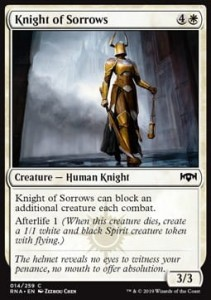 Knight of Sorrows (Ravnica Allegiance)