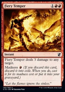 Fiery Temper (Commander 2019)