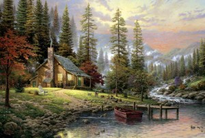 Thomas Kinkade - A Peaceful Retreat - Puzzle 500