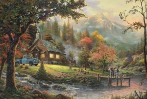 Thomas Kinkade - Peaceful Moments - Puzzle 500