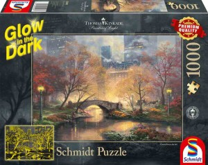 Thomas Kinkade - Central Park in the Fall (Świecą) - Puzzle 1000 + GRATIS