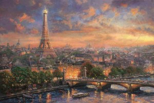 Thomas Kinkade - Paris, City of Love - Puzzle 1000