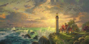 Thomas Kinkade - The Guiding Light - Puzzle 1000 + GRATIS