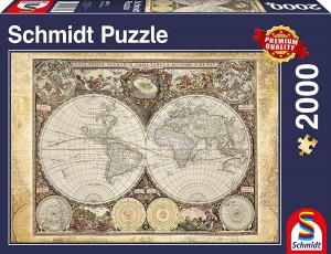 Historical Map of the World - Puzzle 2000 + GRATIS