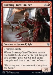 Burning-Yard Trainer (Throne of Eldraine)