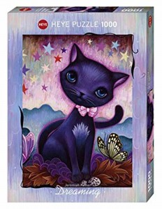 Dreaming - Black Kitty - Puzzle 1000