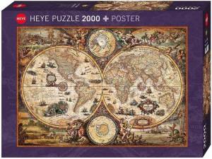 Map Art - Rajko Zigic - Vintage World - Puzzle 2000