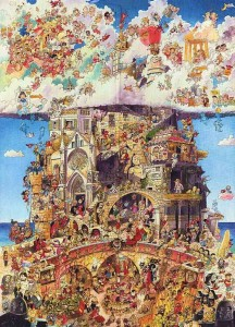 Hugo Prades - Heaven and Hell - Puzzle 1500
