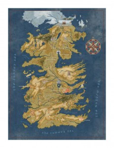 Game of Thrones - Cersei Lannister Westeros Map - Puzzle 1000