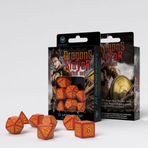 Dragon Slayer Dice Set Red & Orange