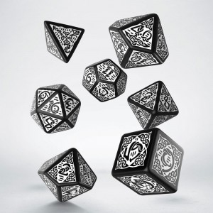 Celtic 3D Revised Dice Set Revised Black & White