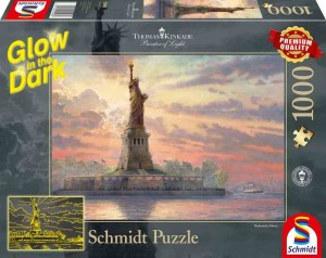 Thomas Kinkade - Dedicated to Liberty (Świecą) - Puzzle 1000