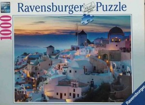Evening in Santorini - Puzzle 1000