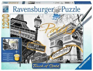 Golden Paris - Puzzle do Malowania - Puzzle 1200