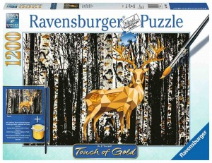Deer in the Birch Forest - Puzzle do Malowania - Puzzle 1200
