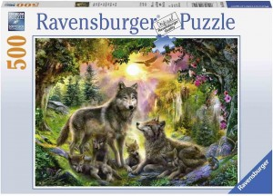 Wolf family in the Sunshine - Puzzle 500