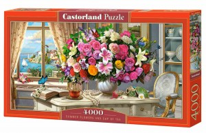Summer Flowers and Cup of Tea - Puzzle 4000
