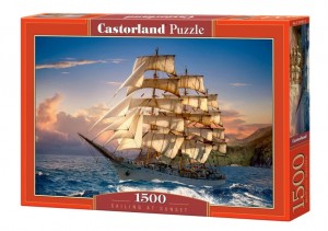 Sailing at Sunset - Puzzle 1500