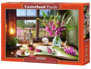 Still Life with Violet Snapdragons - Puzzle 1000