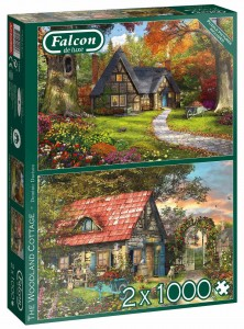 Falcon - The Woodland Cottage - Puzzle 2 x 1000