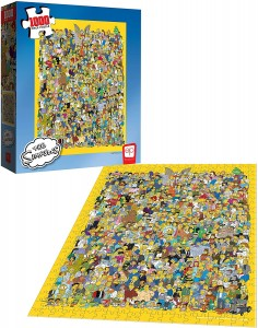 The Simpsons Cast of Thousands - Puzzle 1000