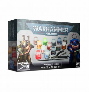Warhammer 40 000 Paints + Tools Set - WH 40K
