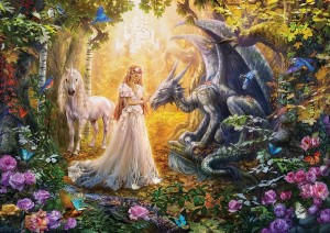 Dragon, Princess and Unicorn - Puzzle 1500
