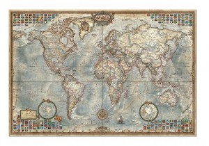 Politicial Map of the World - Puzzle 4000