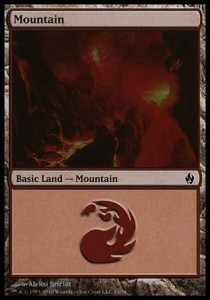 Mountain # 33 (Fire and Lightning)