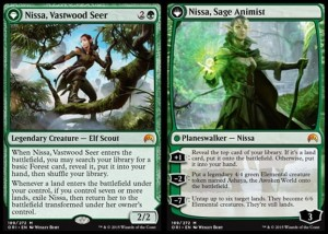 Nissa, Vastwood Seer / Nissa, Sage Animist (Magic Origins)