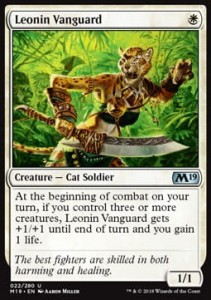 Leonin Vanguard (M19 Core Set)