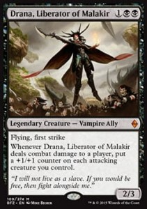 Drana, Liberator of Malakir (Battle for Zendikar)