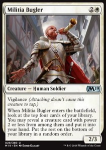 Militia Bugler (M19 Core Set)