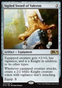 Sigiled Sword of Valeron (M19 Core Set)