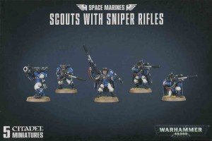Space Marine Scout Squad with Sniper Rifles - WH 40K