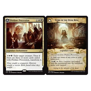 Profane Procession / Tomb of the Dusk Rose (Rivals of Ixalan)