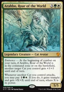 Arahbo, Roar of the World FOIL (Commander 2017)