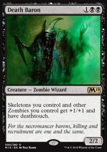 Death Baron (M19 Core Set)