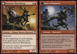 Hanweir Watchkeep / Bane of Hanweir (Innistrad)
