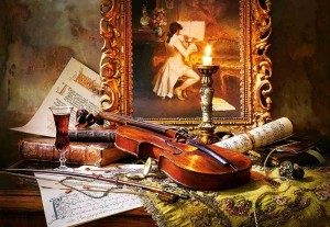 Still life with Violin and Painting - Puzzle 1000