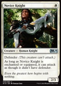 Novice Knight (M19 Core Set)