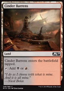 Cinder Barrens (M19 Core Set)