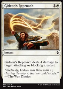 Gideon's Reproach (Battle for Zendikar)