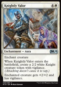 Knightly Valor (M19 Core Set)